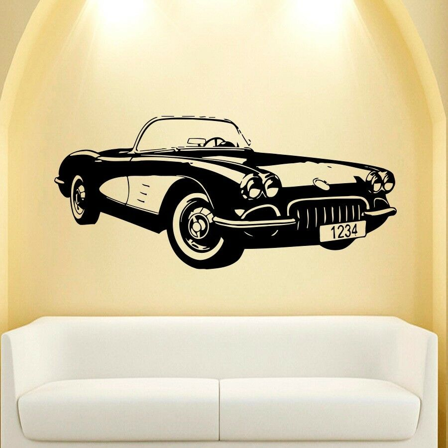 Wall decal vinyl sticker decals art mural classic old for Cars wall mural sticker