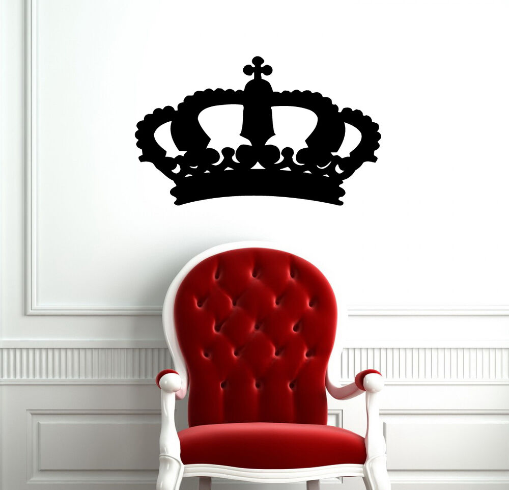 King crown queen abstract design cute wall vinyl sticker for Abstract wall mural designs