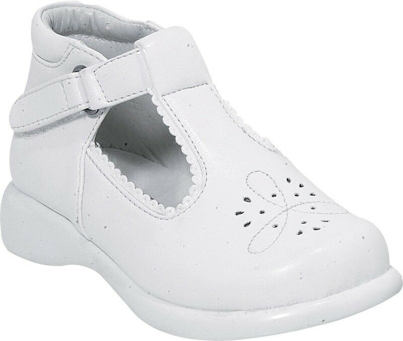 Infant White Leather Walking Shoes
