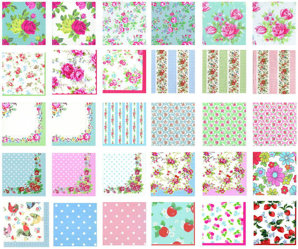 Cath kidston paper table napkins serviettes 30 designs u for Design home gift paper inc