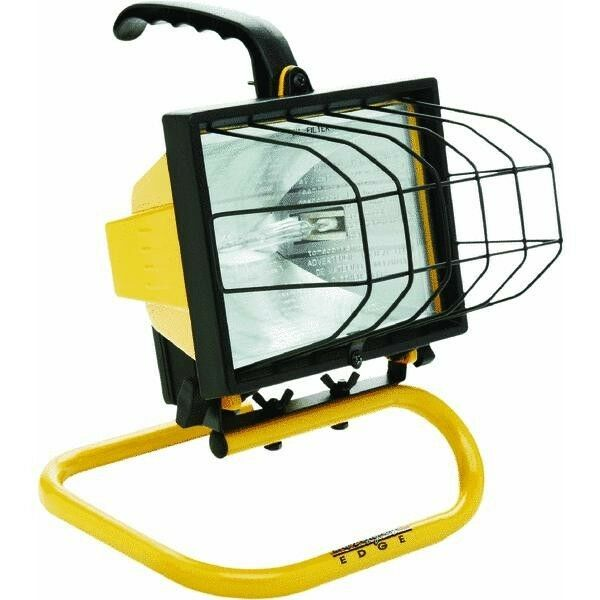 Craftsman 500 Watt Halogen Worklight: 500 Watt Halogen Portable Quartz Work Shop Stand Light