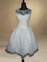 50s 60s Ivory Wedding Dress/Bridal Gown/Evening/Prom Dress 8/10/12/14/16/18