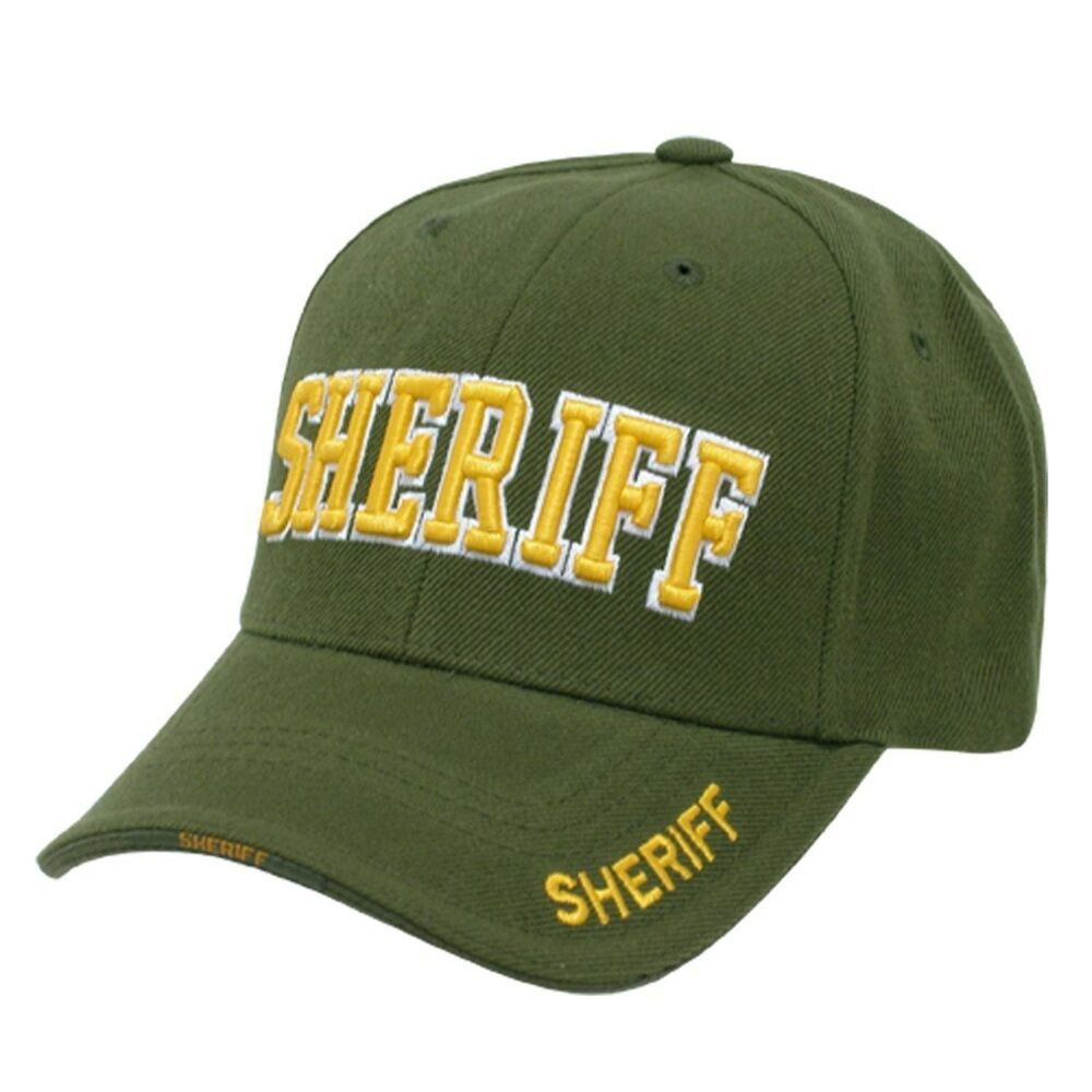 Olive Green Sheriff Police Officer Deputy Costume Cop