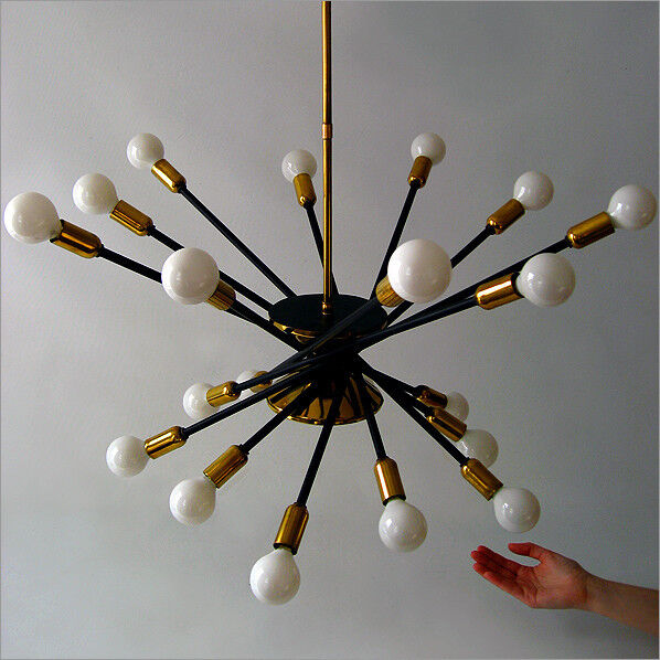 stilnovo mid century modern design sputnik chandelier. Black Bedroom Furniture Sets. Home Design Ideas