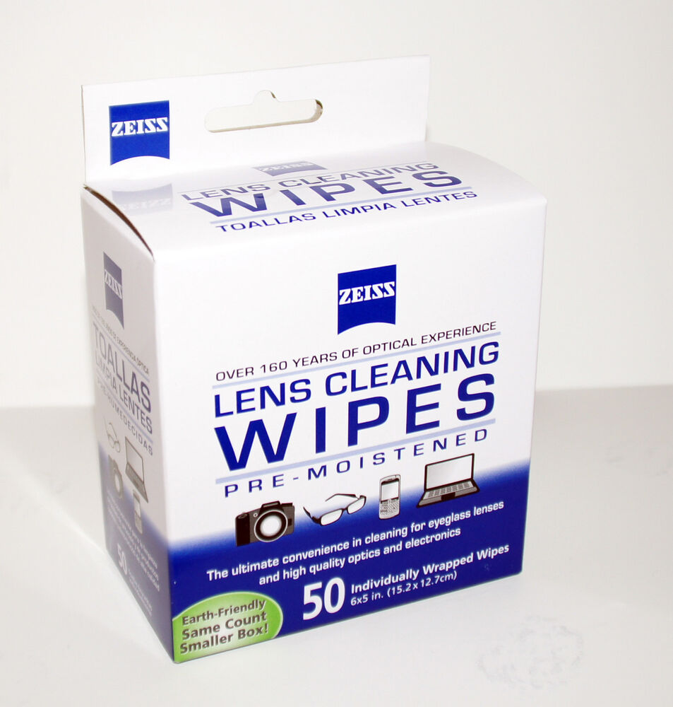 zeiss lens cleaning wipes 50 pc pre moistened for eyeglass