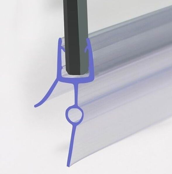 Curved Plastic Seal For 6 8mm Glass Bath Door Shower