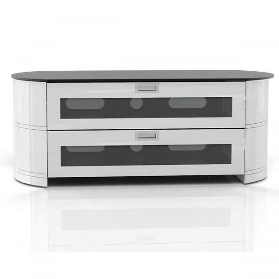 Gloss white tv cabinet gecko opal opa1200 gw lcd led stand for White plasma tv stands