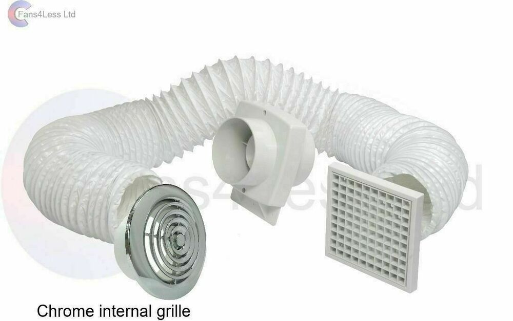 "Shower Fan Kit - 4""/100mm Manrose VSF100S Extractor Fan ..."