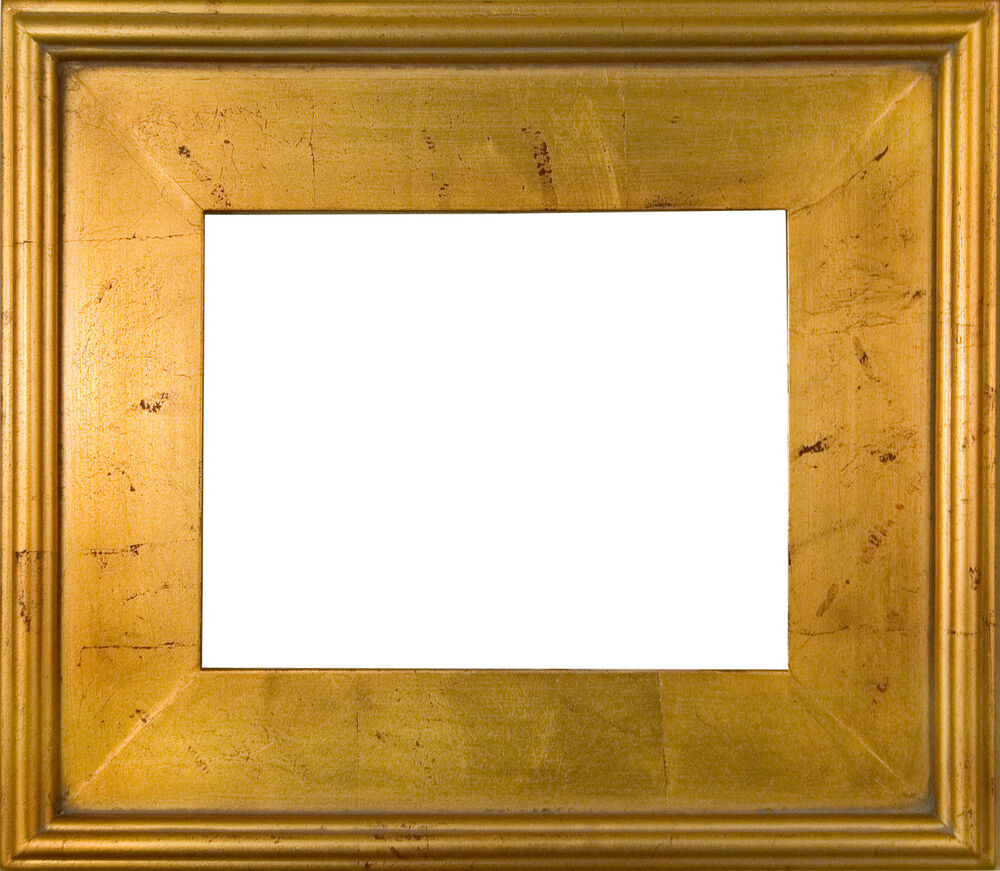 "PICTURE FRAME WOOD PLEIN AIR GOLD RED DISTRESS 3 3/8"" WIDE VARIETY OF SIZES 