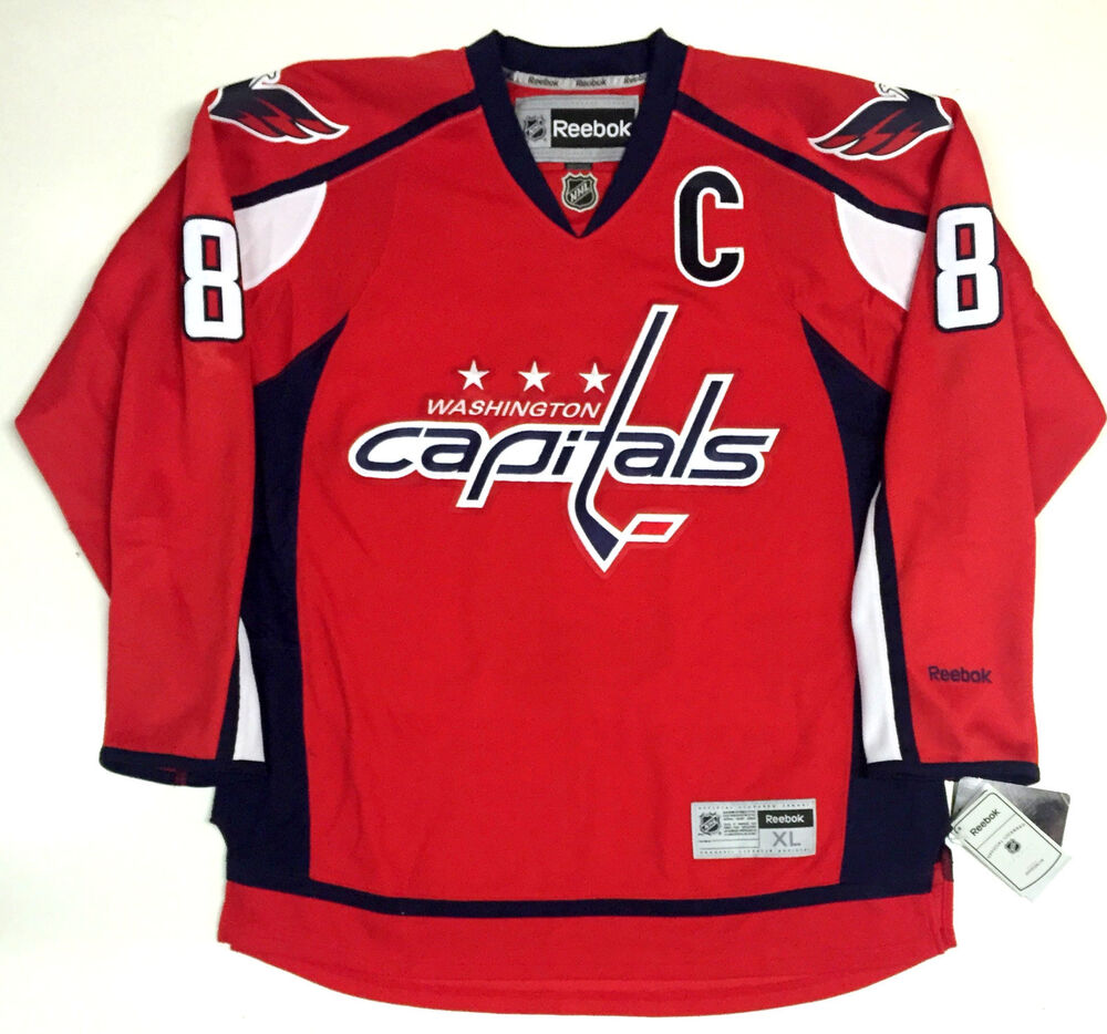 92ac908ff Details about ALEX OVECHKIN WASHINGTON CAPITALS REEBOK NHL HOME PREMIER  JERSEY NEW WITH TAGS