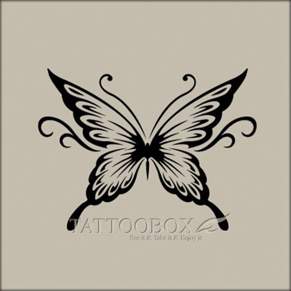 Reusable airbrush tattoo stencils templates butterfly 1 for Spray on tattoo stencils