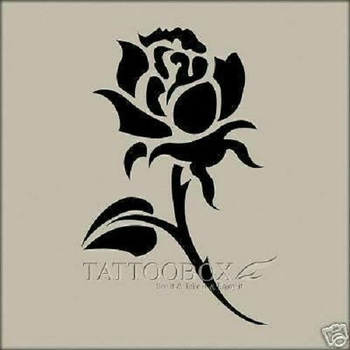 Gorgeous airbrush stencils rose small size ebay for Spray on tattoo stencils