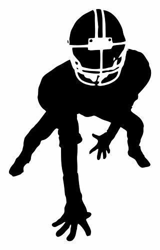 12 Quot Football Player Linebacker Sports Vinyl Decal Sticker Design Kid S Room Wall Ebay