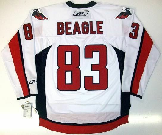 28ffdf83e Details about JAY BEAGLE WASHINGTON CAPITALS NHL REEBOK PREMIER AWAY JERSEY  NEW WITH TAGS
