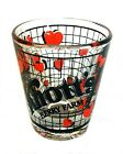 KNOTT'S BERRY FARM Shot Glass Shooter Clear with Red Berries & Black Letters
