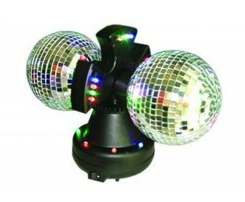 4 5 Quot Twin Mirror Rotating Disco Ball For Dj Party Led