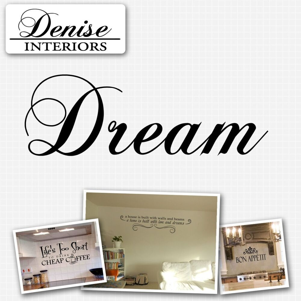 Dream wall decor dream wall quotes inspirational wall for Decor dreams