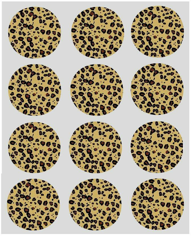 Leopard Print Edible Cake Decorations