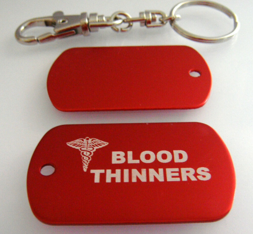 Blood thinners medical alert id dog tags military aluminum for Take me fishing org