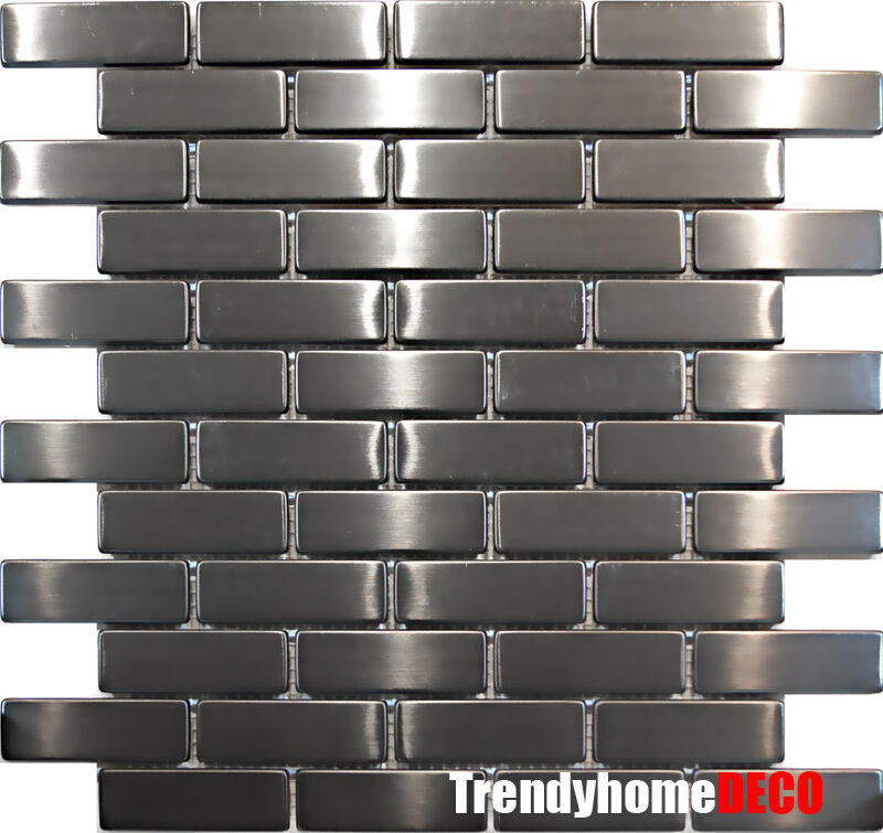 Sample Stainless Steel Metal Pattern Mosaic Tile Kitchen: 1SF- Stainless Steel Brick Subway Mosaic Tile Kitchen
