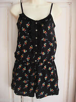 Gorgeous Ex Chainstore Parrot Print Playsuit 8 10 12 14 16 Black Green Red