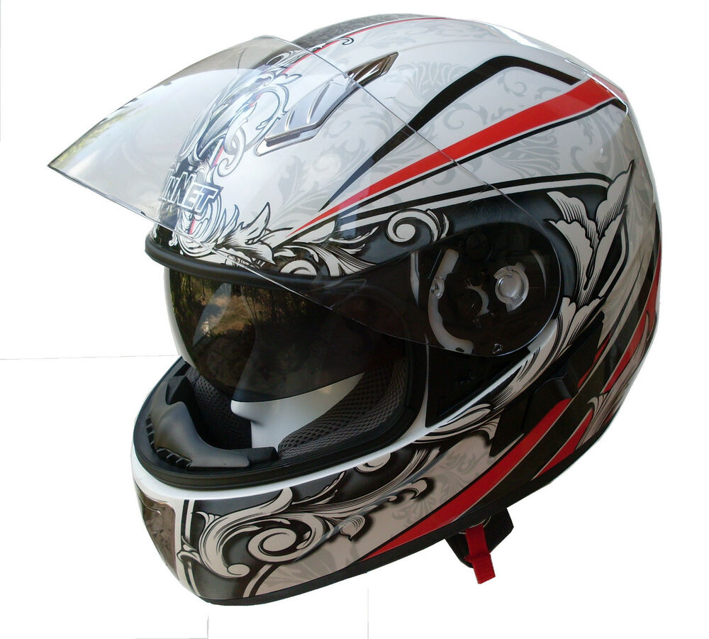italienne casque moto integral 2nd cran solaire neuf xs s xl ebay. Black Bedroom Furniture Sets. Home Design Ideas