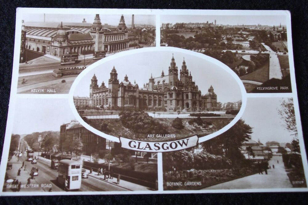 OLD MULTIVIEW POSTCARD OF GLASGOW 1955 | eBay