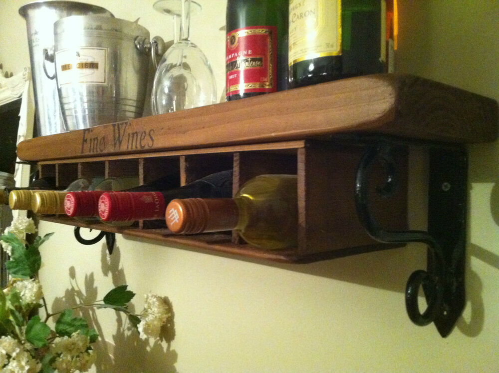 wall mounted kitchen storage rack new wine rack shelf wall mounted free standing rustic 8880