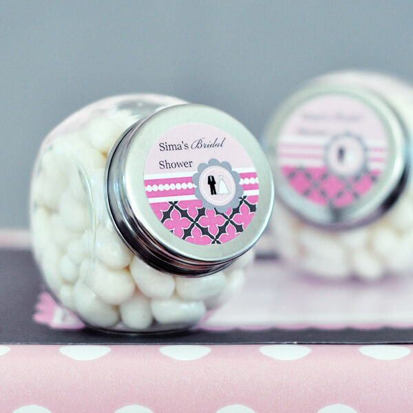 24 Wedding Bridal Shower Theme Personalized Candy Jars Favors Lot EBay
