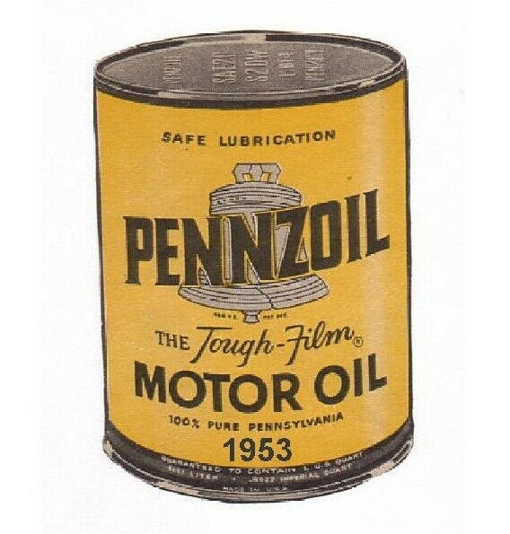 1953 Pennzoil Motor Oil Can Refrigerator Tool Box Magnet
