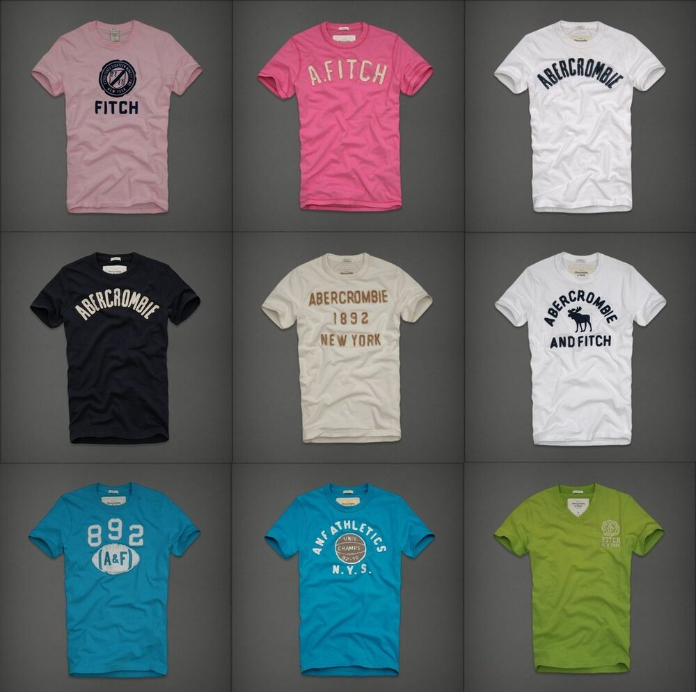 Abercrombie fitch mens graphic tee t shirt top crew v for Abercrombie and fitch tee shirts