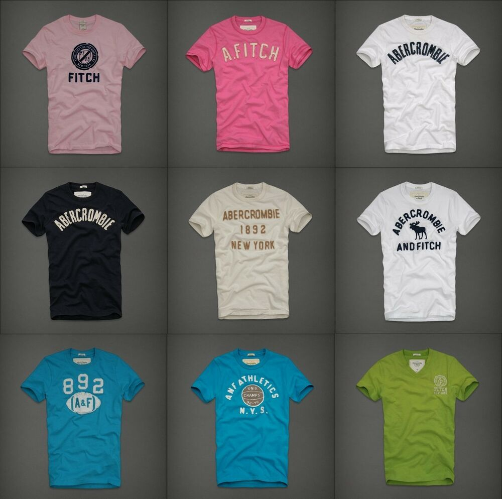 Abercrombie fitch mens graphic tee t shirt top crew v for Abercrombie and fitch t shirts online shopping