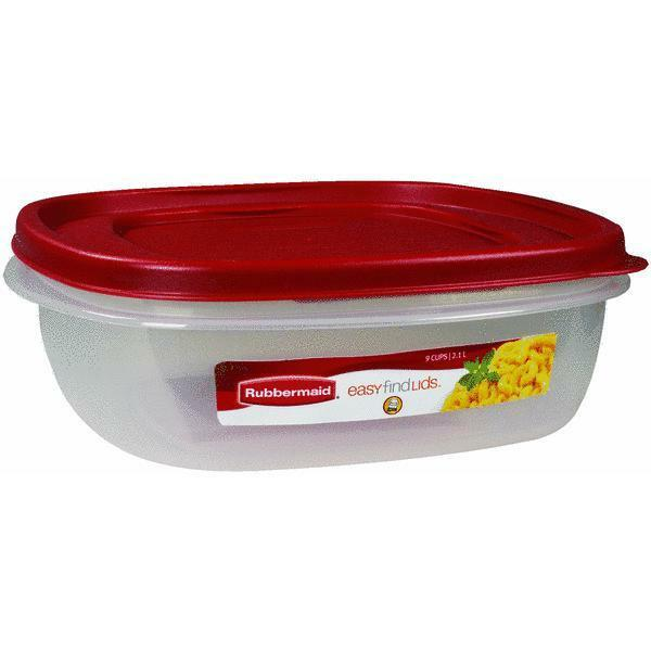 Rubbermaid 9 Cup Easy Find Lids Food Storage Container