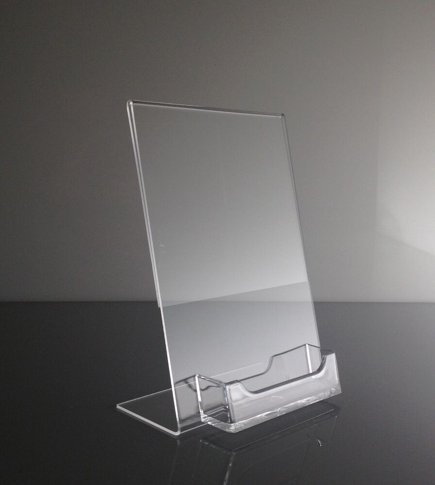 1 5quot x 7quot acrylic sign display picture frame with for Business card picture frame