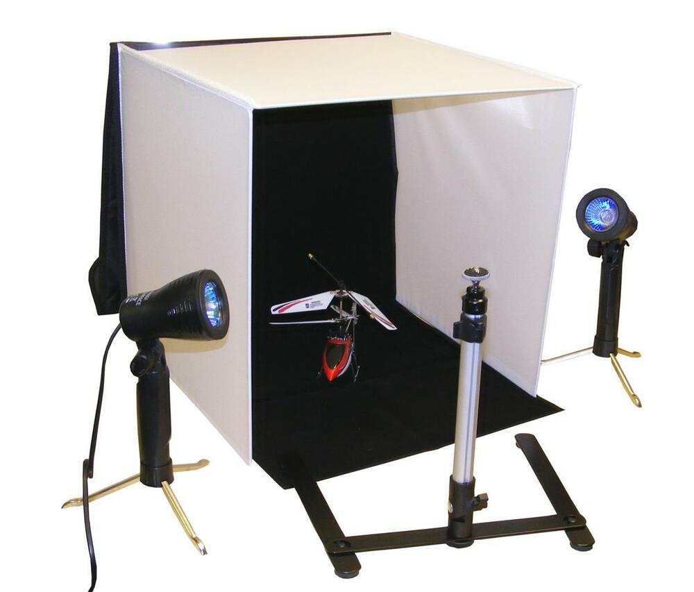 Portable Photo Lighting Studio With Lights, Camera Tripod