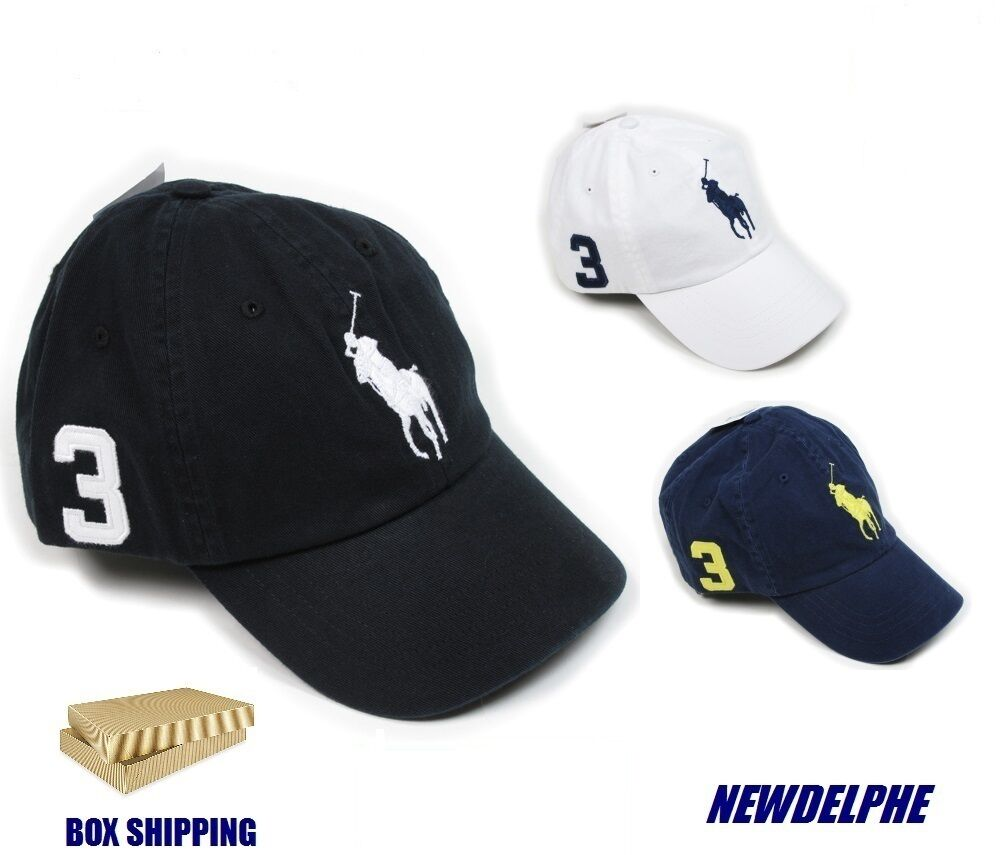NWT POLO RALPH LAUREN Big Pony Baseball Cap Hat -Box Shipping for Protection-