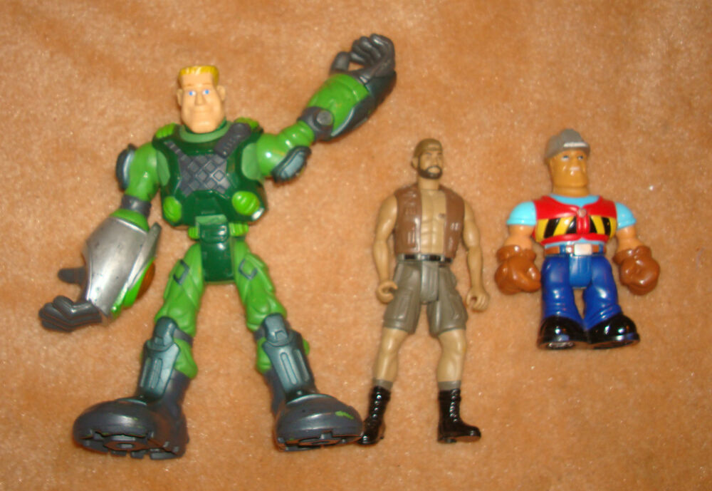 Kids Toys Action Figure: X3 Pc TOY LOT Action Figure ACTION HERO Bob The Builder