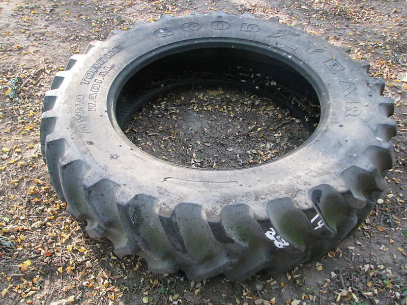 11 36 Tractor Tires : Goodyear tractor tire vg used ebay