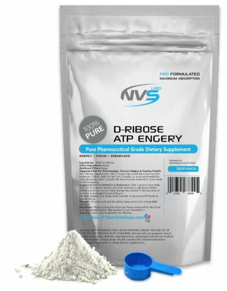 2.2 lb (1000g) 100% PURE D-RIBOSE POWDER -ENERGY & ENDURANCE- PHARMACEUTICAL USP