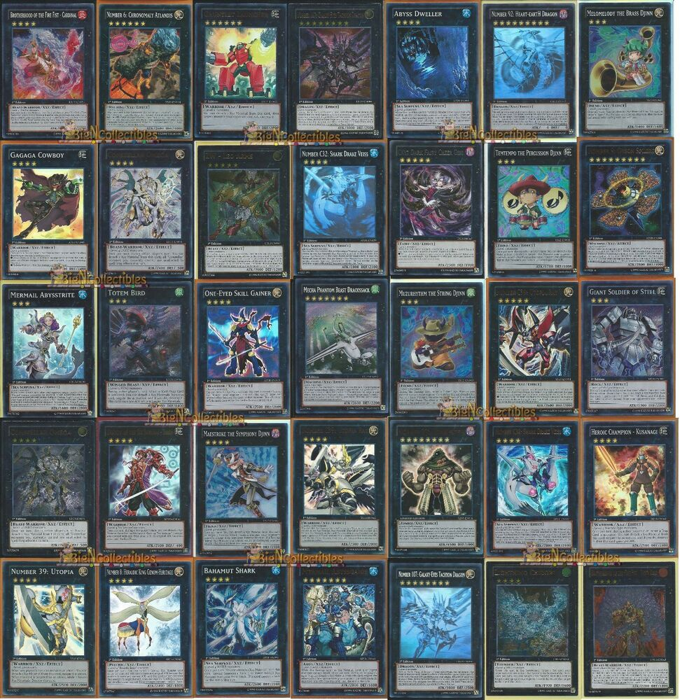 Yugioh X10 XYZ Monster Exceed Number Pack Yes 10x XYZ