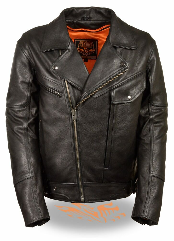 buy mens leather motorcycle jacket