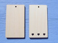 9cm Wooden Plain Gift Tag Label Embellishment Craft Blank Shape Pack of 10