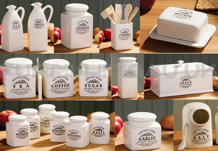 cream kitchen storage jars new vintage kitchen breakfast storage canister jar 6283