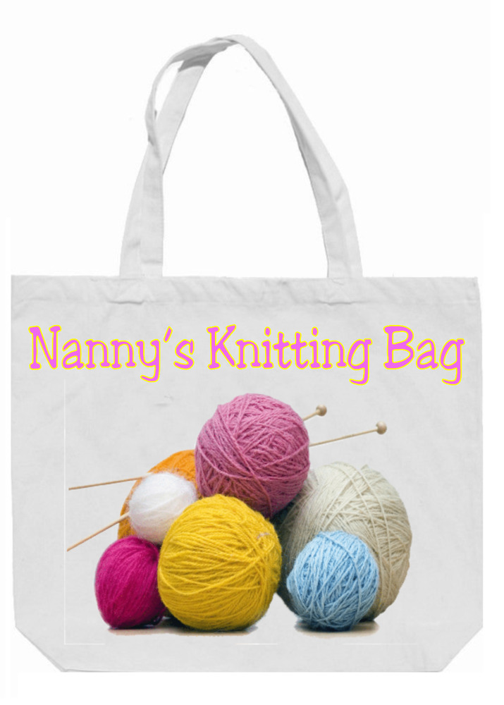 Knitting Gifts For Knitters : Personalised knitting tote bag lovely gift for