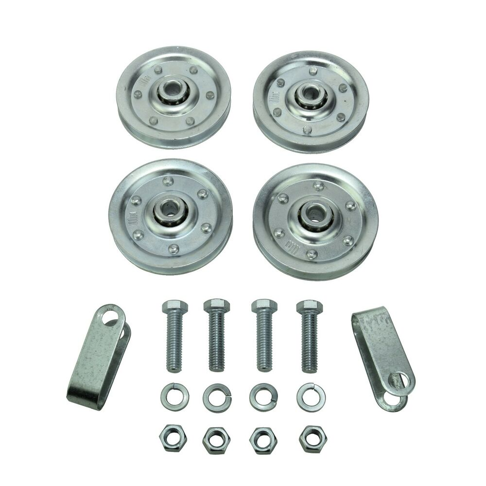 Garage Door Pulleys And Hardware Set Sheaves Stud