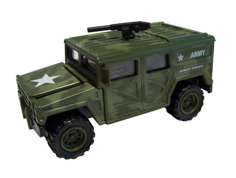 Toy Army Cars : New diecast army hummer military model soldier truck car