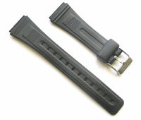 18mm Lug 22mm Band Width Men's PVC Watch Band Strap - Stainless Steel Buckle