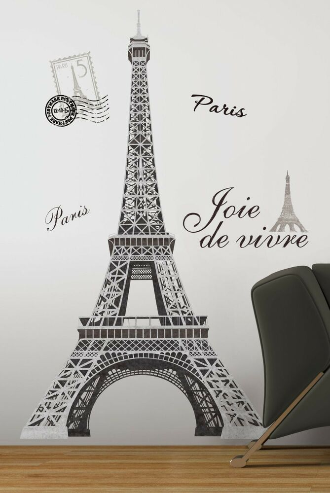 eiffel tower giant 56 removable wall decals mural paris