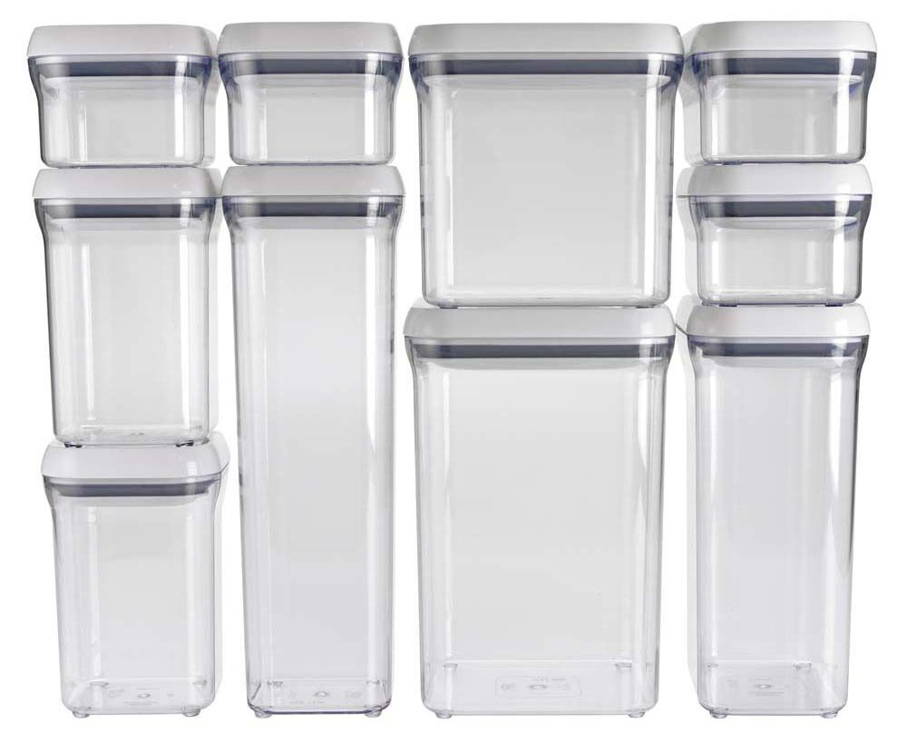 Oxo good grips kitchen food bathroom storage box pop - Plastic bathroom storage containers ...