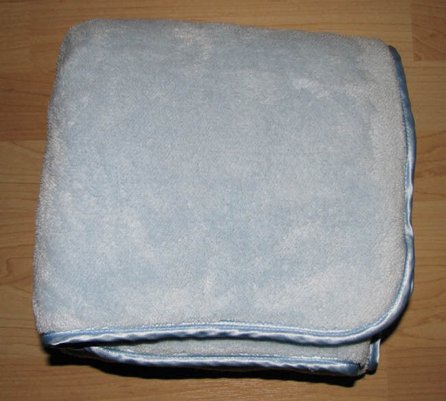 First Impressions Blue Luxe Thick Plush Baby Boy Blanket